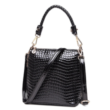 Crocodile Printing PU Leather Hand Bag Women Stylish Bucket Bag Lady Luxury Gorgeous Shoulder Bag Occident