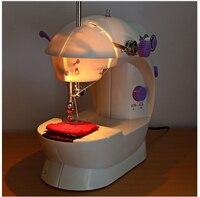 2018 мини-Портативные Ручные Швейные машинки для шитья шитье Рукоделие Беспроводная одежда ткани Electrec швейная машина набор для шитья 16