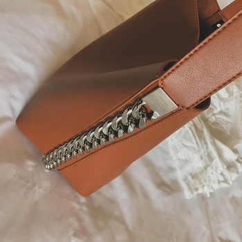 Brand design women shoulder bag Large capacity Chain bucket Handbags Quality PU leather Women\'s Totes Shopping Bag bolsa feminin