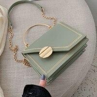 Matcha green PU Leather chain design Crossbody Bags Women Small Chain Handbag small bag Hand Bag Ladies Designer Evening Bags