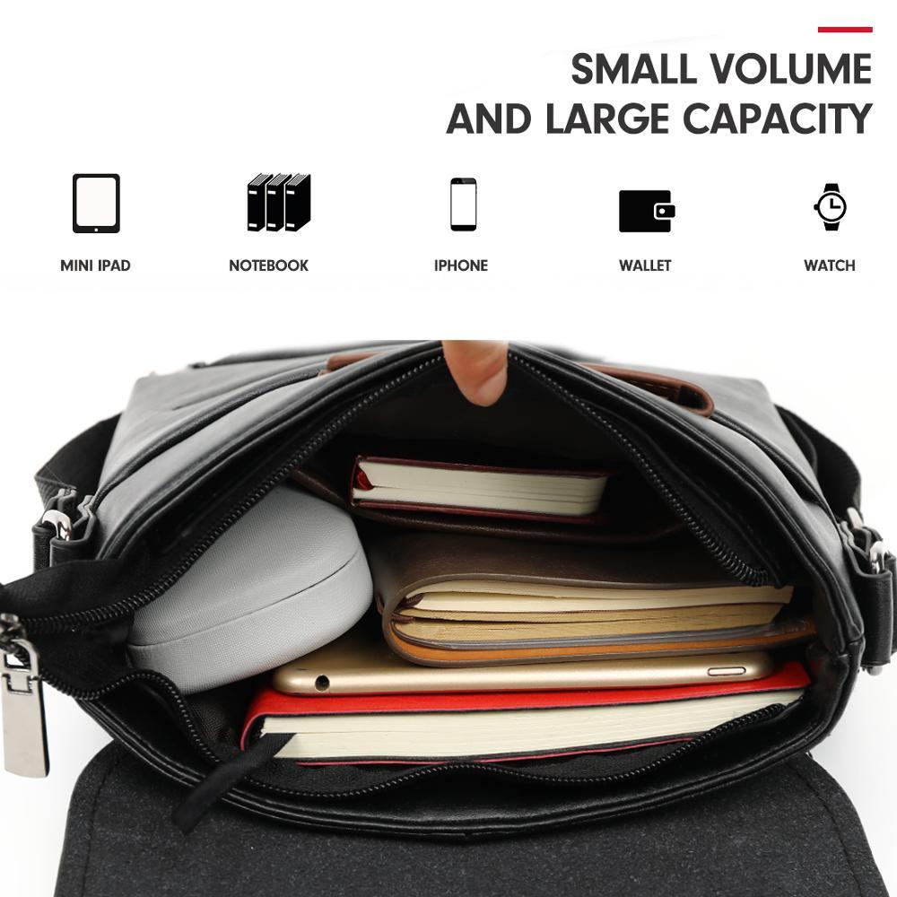 Image 4 - VICUNA POLO Vintage Frosted Leather Messenger Bag For Man Brand Business Man Bag Men's Shoulder Bags Front Pocket Men Handbag