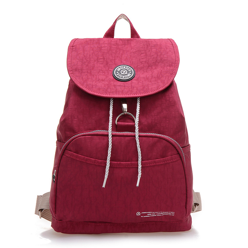 458dff68252 High Quality Backpack Mochila Women School Bag Femininas Solid Waterproof  Nylon Bolsas Female Rucksack Travel Shoulder Bagpack