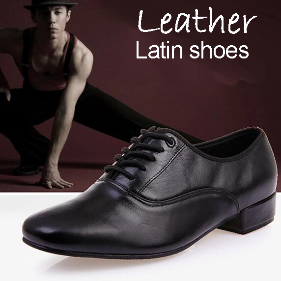 2018 new genuine leather cowhide male Latin dance shoes flat summer dance shoes