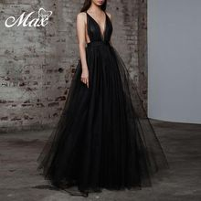 Max Spri 2019 New Strappy Mesh Plunging Neckline Sleeveless Ball Gown White Black Elegant Women Party Outfit Maxi Dress bohemian plunging neckline sleeveless floral print dress for women