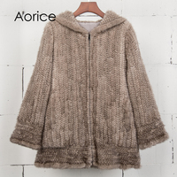 Aorice CT7034 Mink Fur Coat