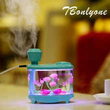 TBonlyone 460ML Large Capacity Humidifier for Whole Night Water Soluble Oil Aroma Diffuser LED Lamp Ultrasonic Air Humidifier(China)