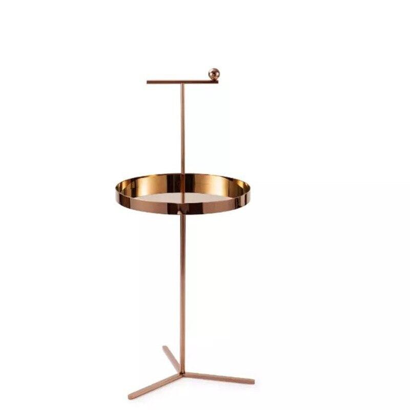 Champagne or thé Table Rose or fin Table pour bureau créatif Table basse mobile salon chambre meubles R1353