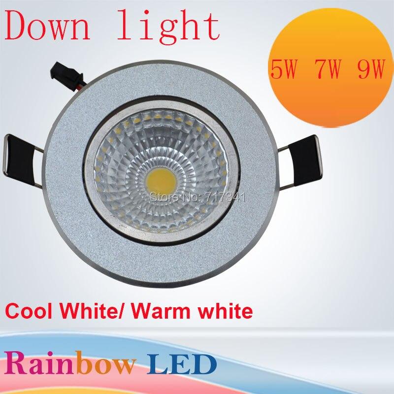 LED Светильники 5 Вт 7 Вт 9 Вт вел ceilinglights лампа кухня алюминиевый AC110V 220 В 90-260 В Лампы и освещение