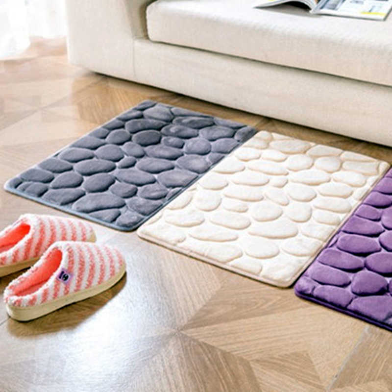 Bathroom Rug Floor Mat Memory Foam Kit Bath Toilet Coral Fleece Non slip Carpet