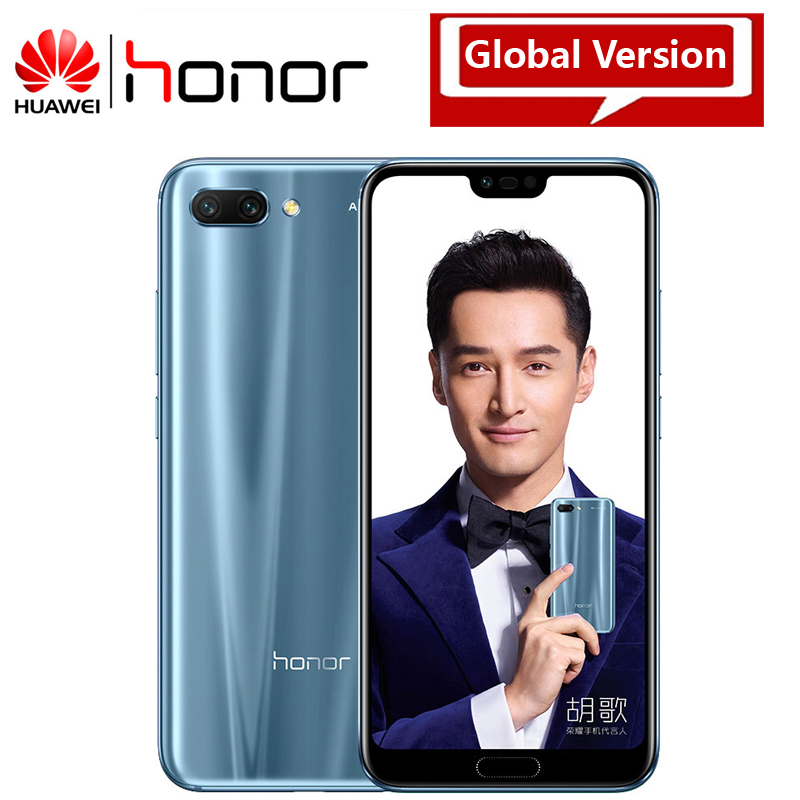 Huawei Honor 10 Smart Mobile Phone 24MP Camera 5.84 Inch 2280x1080p Screen Octa Core face ID NFC android 8.1 3400mAh battery