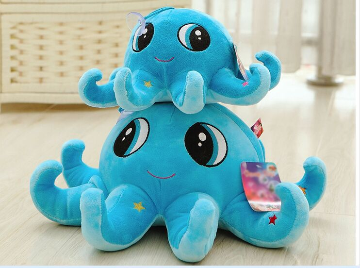 lovely creative octopus toy plush blue octopus doll birthday gift about 50cm