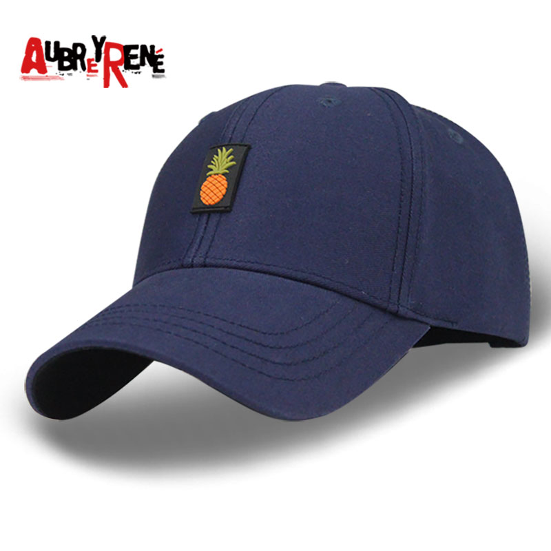 AUBREYRENE Cotton Pineapple Patch Baseball Cap Dad Hat With Ring For Women Men Unisex Snapback Bones Fashion Hip Hop Strap Caps 2017 brand 100% cotton newest fold dad hat fashion baseball cap do old style very personal hip hop snapback caps for men women