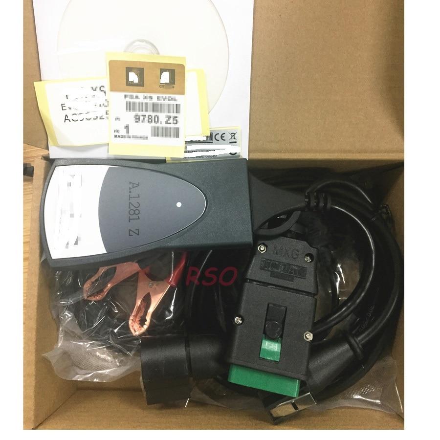 V7.83 PSA Diag box Lexia3 PP2000 Diagnose Scanner mit 921815C Volle chip Interface für Citroen für Peuget diagnose