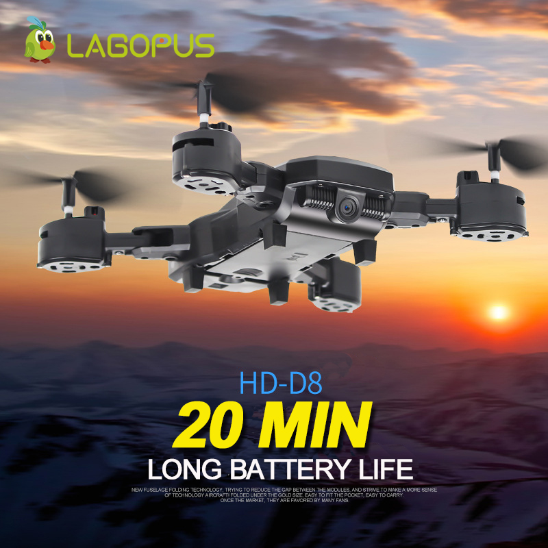 lagopus D8 Camera Drone 20 Mins Drone battery 5MP FPV WIFI 1080P Drone with Camera HD Quadcopter Mini Drone Foldable