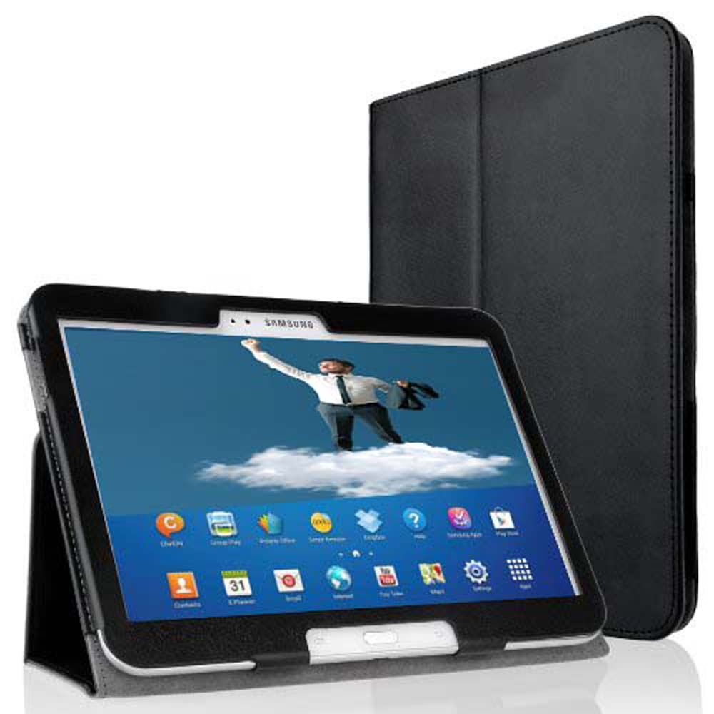 GT p5200 p5210 p5220 Folio Slim PU Leather Cover Case for Samsung Galaxy Tab 3 10.1 Book Flip Cover Auto Sleep