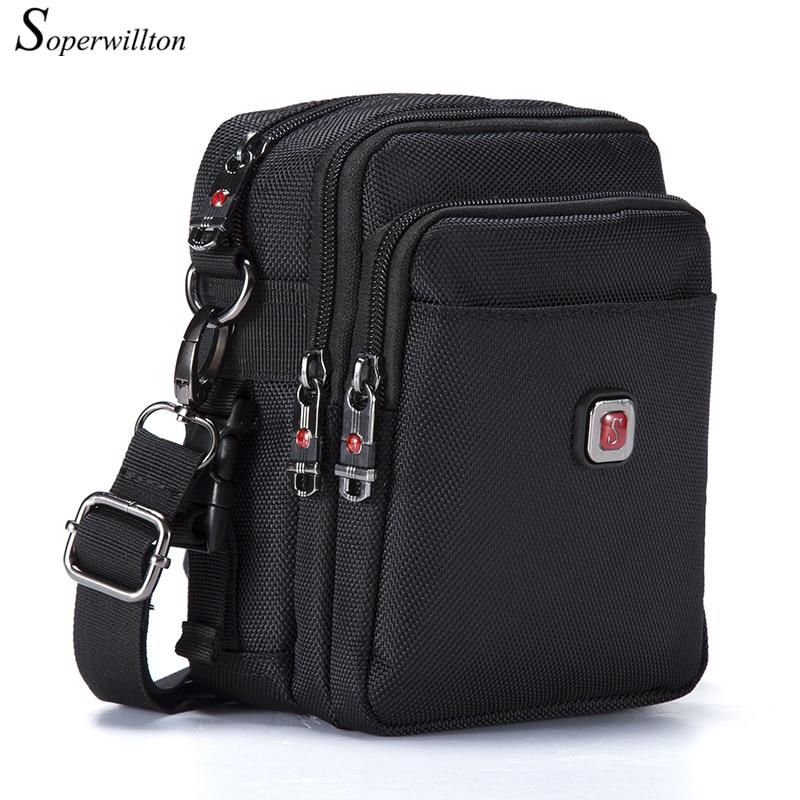 Soperwillton Brand Men's Bag Messenger Bag Waterproof Men Belt Bag Oxford 1680D Zipper Bag Crossbody For Male DropShipping #1052