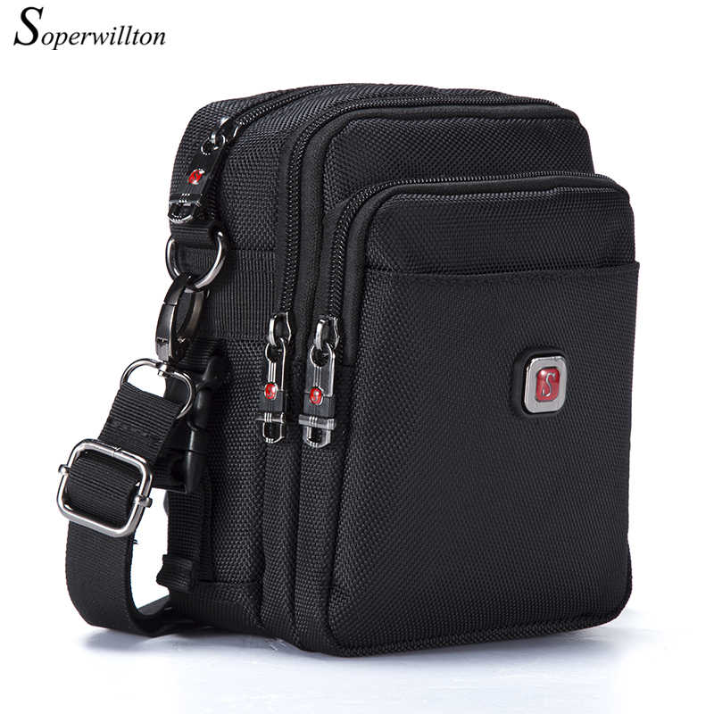 Soperwillton Brand Men's Bag Messenger Bag Waterproof Men Belt Bag Oxford 1680D Zipper Bag Crossbody For Male DropShipping #1052