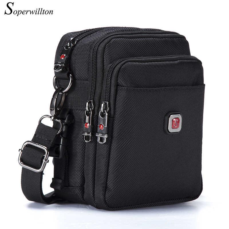 حقيبة رجالي ماركة Soperwillton حقيبة ساعي البريد مضادة للماء للرجال محفظة أكسفورد 1680D حقيبة بسحاب حقيبة عبر الجسم للذكور شحن مباشر #1052