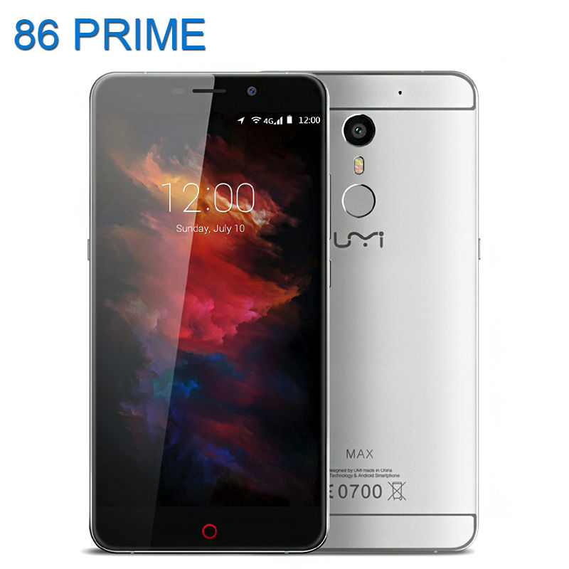 Original Umi Max MTK6755 Octa Core Mobile Phone 5.5inch 1920*1080 FHD 4G Android 6.0 Type C 4000mAh 3GB+16GB 13MP Smartphone