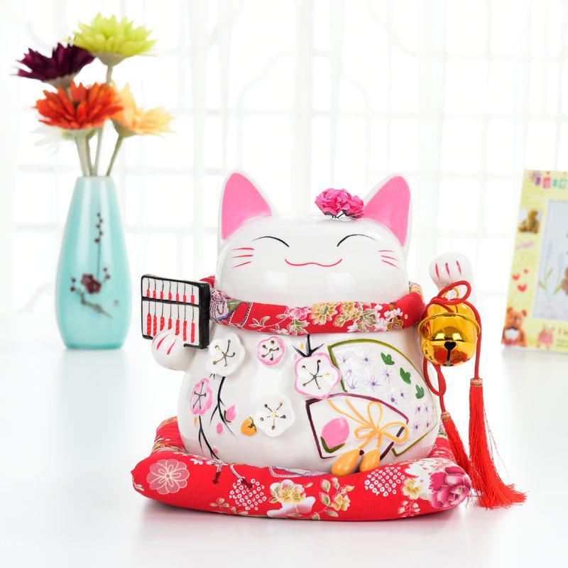 Belle chat chanceux Style tirelire économie d'argent boîte de stockage de pièces de monnaie Figurines décor à la maison cadeaux d'anniversaire pour les enfants enfants