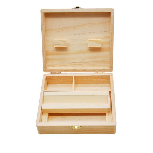 Rolling Supreme Smoking Gift Set Wooden Box Grinder Raw Kingsize Paper Tips Pipe
