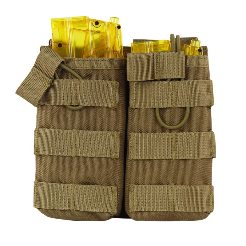Tactical MOLLE Double Open Top Mag Pouch M4/M16 Magazine Pouch Airsoft Military Paintball Gear Shotgun Vest Accessory Pack image