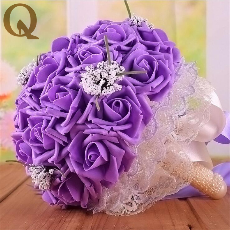 Best Selling 2017 Beautiful color Wedding Bouquet All Handmade ...