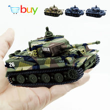 1: 72 4 kleuren Mini Tijger Battle RC Tank Afstandsbediening Radio Control Panzer Armored Voertuig Kinderen Elektronisch Speelgoed voor Jongens Kids geschenken(China)