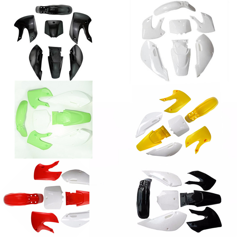 Genuine New Complete Fender Covering Part Plastics Full Set For Motorcycle Enduro Racing Kawasaki KLX110 KX65 P