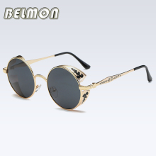 Steampunk Goggles Polarized Sunglasses Women Men Brand Designer Vintage Sun Glasses Ladies For Male Female Retro  RS134