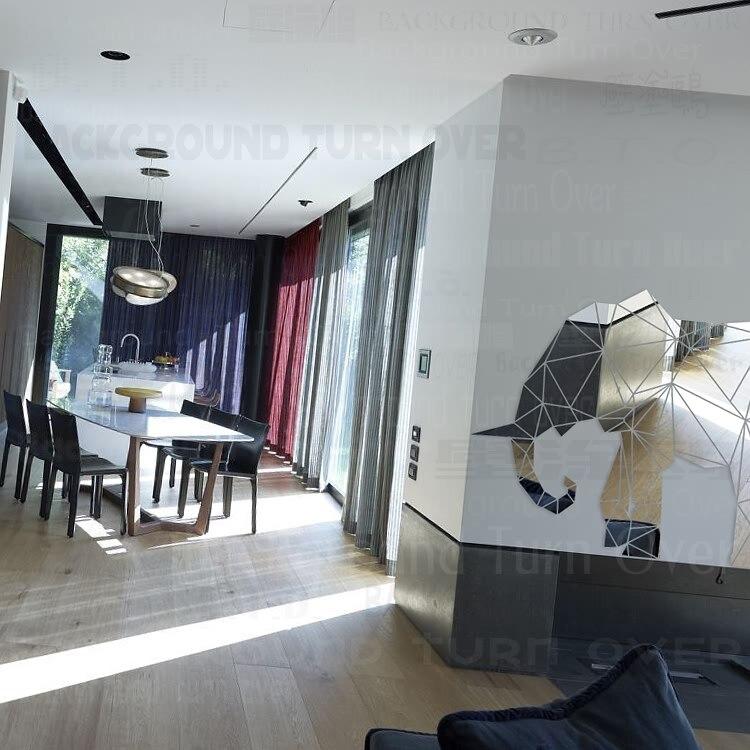 Creative 3D Животных Светоотражающие Акриловые Декоративные Зеркала Стикер Стены Слон для Детская Комната Детская Гостиная Украшения R102 - 3