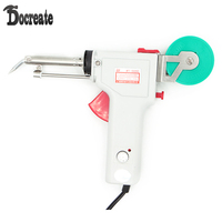 220V 80W Temperature Adjustable Single Hand Automatic Send Tin Electric Heating Soldering Iron Gun