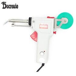 220V 60W regulacja temperatury pojedyncza ręka automatyczne wysyłanie cyny podgrzewany elektrycznie lutownica zestaw narzędzi zestaw narzędzi