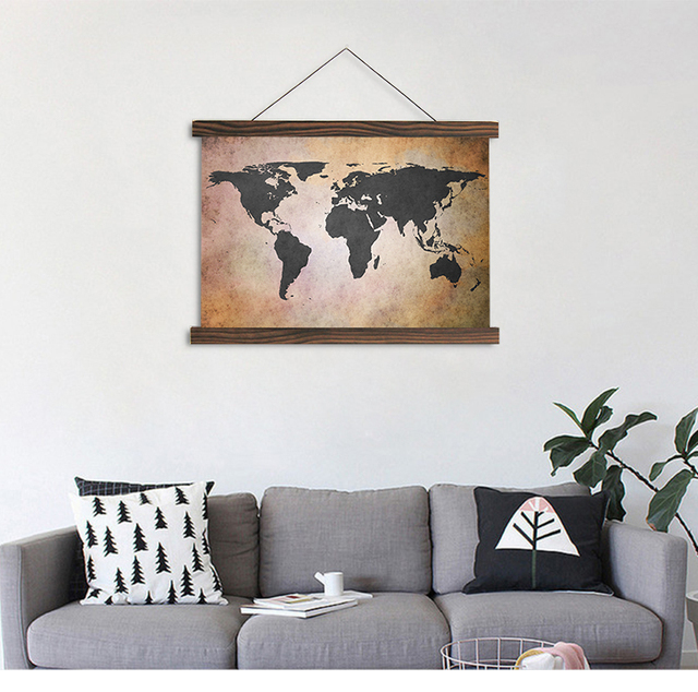 Artryst scroll painting modern hanging canvas painting world map hd artryst scroll painting modern hanging canvas painting world map hd printed on canvas for living room gumiabroncs Choice Image