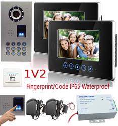 Luxury touch key intercom system for home 7 lcd color video intercom fingerprint code unlock video.jpg 250x250