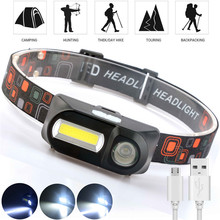 T705 uper Bright Head Light LED Headlamp Outdoor camping XPE+COB USB charging Fishing headlights Waterproof flashlight Use18650