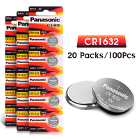 PANASONIC 3V CR1632 DL1632 ECR1632 LM1632 KL1632 Lithium Battery Button Coin Cell 100Pcs For Main Board Remote Control Toy