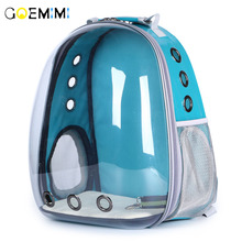 New Dog Breathable Backpack Waterproof Transparent design Cat Pet Carrier Outdoor dog bags for small dogs