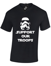 SUPPORT OUR TROOPS MENS T SHIRT FUNNY STAR TROOPER STORM WARS JEDI S - 5XL Free shipping  Harajuku Tops Fashion Classic