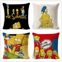 FOKUSENT Family comedy humor The Simpsons Cartoon Character images pillow case Home decoration cushion cover simpsons fans