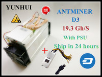 With 1800W Power Supply Antminer D3 19 3GH S Dash Miner X11 Dashcoin Mining Machine Fast