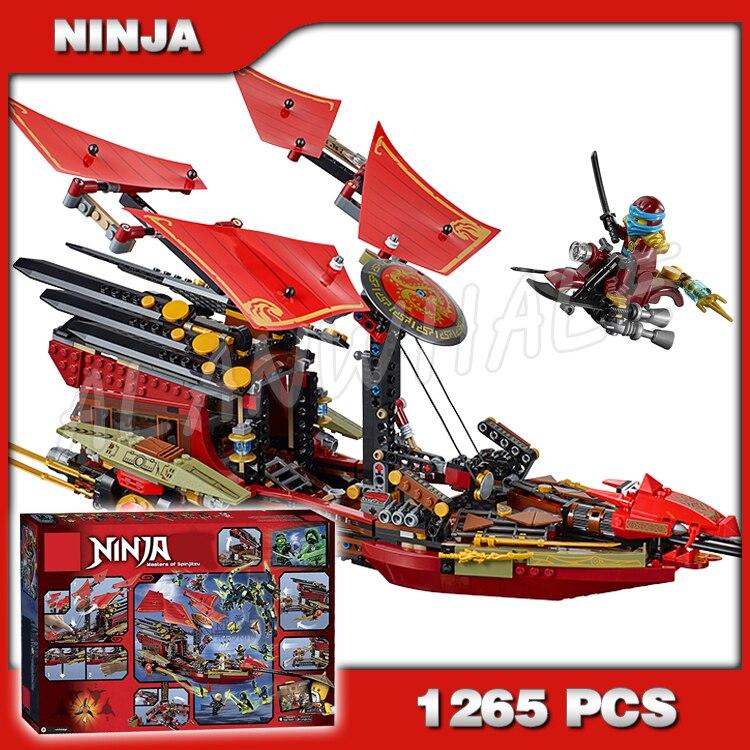 1265 pièces Ninja dernier vol de la prime du destin Dragon fantôme de Morro 10402 modèles de blocs de construction jouets Biricks compatibles avec