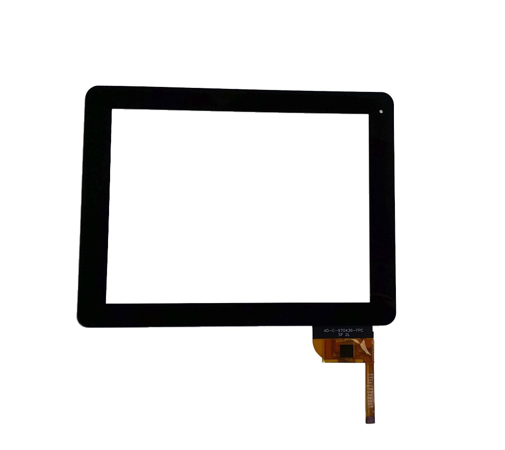 Prix pour Noir 9.7 polegada écran tactile Digitizer verre pour iconBIT NetTAB espace 3 G DUO ( NT-3902S ) tablet PC livraison gratuite