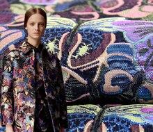 Metallic Jacquard brokat Kleid Stoff Tuch Width145cm * 100 cm Mantel Jacke Wohnkultur Polster Nähen Material