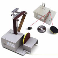 Electric Belt Sander Mini Ponceuse Multi function Cutting Machine Table Saw DIY Woodworking Desktop Sanding Grinding Machine