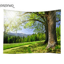nature forest wall tapestry hanging carpet tenture tapisserie indienne murale wall decor cloth for dorm room(China)