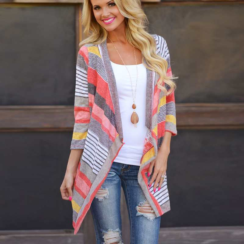 Knitted Striped Cardigans