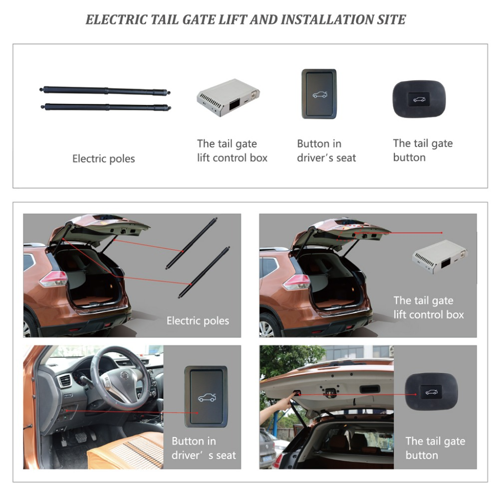 Smart Auto Electric Tail Gate Lift for Hyundai iX45 Control Set Height Avoid Pinch With Latch in Trunk Lids Parts from Automobiles Motorcycles