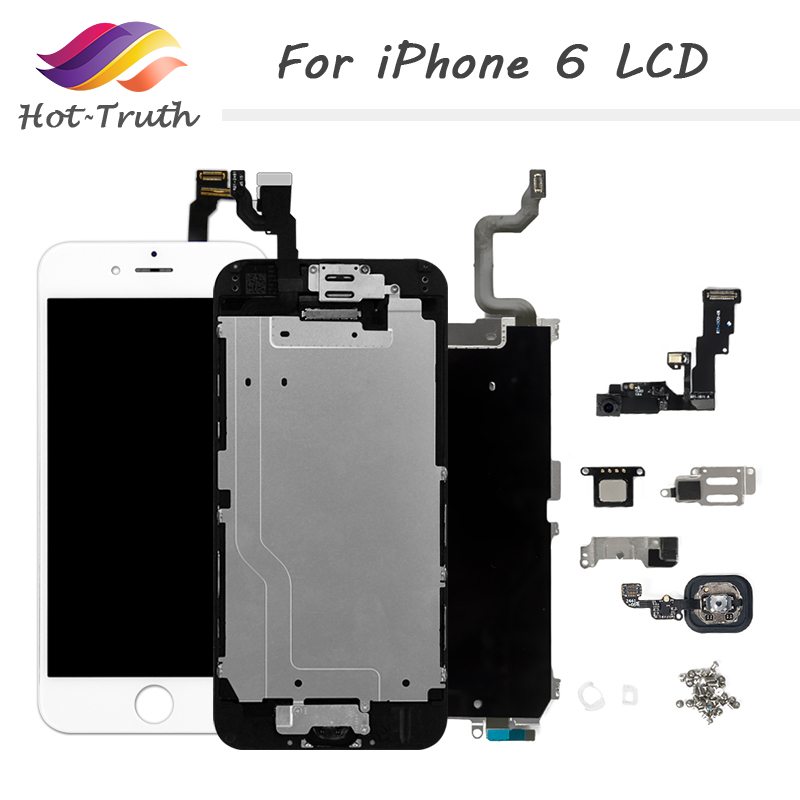 Complete LCD For iPhone 6 6S Plus Display LCD Touch Screen Digitizer Assembly Full Set Ecran with Home button Front Camera image