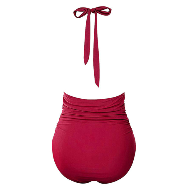 One-Piece Swimsuits Women Summer 2019 Ladies waistband halter neck swimsuit bathing suit women bikinis 2019 mujer 2D28